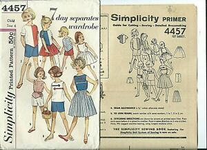 S-4457-sewing-pattern-60-039-s-girl-BLOUSE-TOP-SKIRT-SHORTS-sew-Darling-size-6-UNCUT