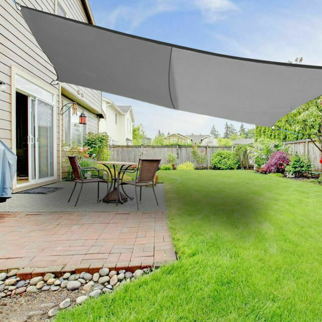 5m Sun Shade Sail Garden Canopy Awning 98/% UV Block Triangle Sand New