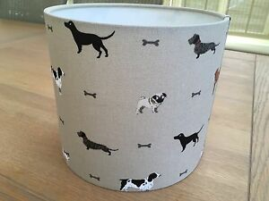 Handmade drum lampshade with sophie allport new dogs fabric pug image is loading handmade drum lampshade with sophie allport new dogs mozeypictures Image collections
