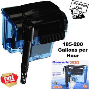 Pro-55-Gallon-Fish-Tank-Filter-Power-Aquarium-Pump-Sterilizer-Canister-200-Gph