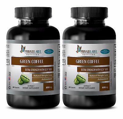 Green Coffee Bean Extract W Gca 800 Weight Loss Lean Body Mass