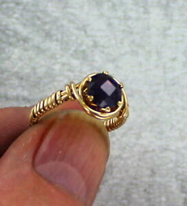 Amethyst-Gemstone-Ring-in-14kt-Rolled-Gold-Size-5-to-15-Wire-Wrapped