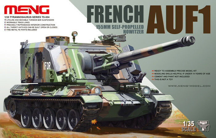 Meng Model TS-004 1 35th scale French AUF1 155mm Self-Propelled Howitizer SPG