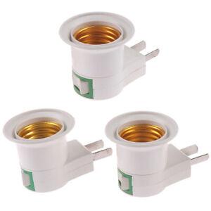 E27-Light-Bulb-Socket-Holder-Plug-in-Adaptor-Screw-Base-Lamp-Wall-US-Plug-GQ-D