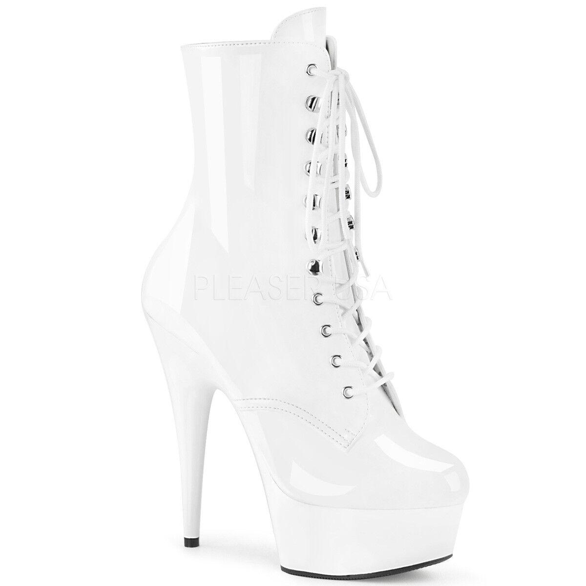 Pleaser Sexy Stripper Bailarina Bailarina Bailarina De Polo De Plataforma Tacones De 6  blancoo para Mujer botas al tobillo  venta de ofertas