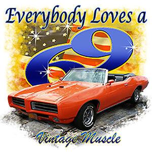pontiac 69 gto vintage muscle car t shirt small to xxxl ebay