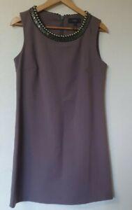 Proxima-Gris-Perla-Cuello-una-linea-cambio-Inteligente-Vestido-Talla-12-R