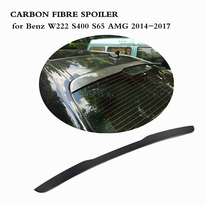 Rear roof spoiler Wing for Mercedes Benz W222 S400 S65 AMG 14-17 Carbon Fiber