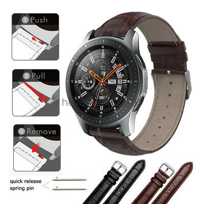 original à chaud super pas cher dernière conception Crocodile Pattern Leather Watch Band Strap For Samsung Galaxy Watch 42mm  46mm | eBay