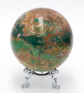 Western-Australia-Pilbara-Chrysocolla-Malachite-90mm-Rock-Sphere-Jasper-BBM2