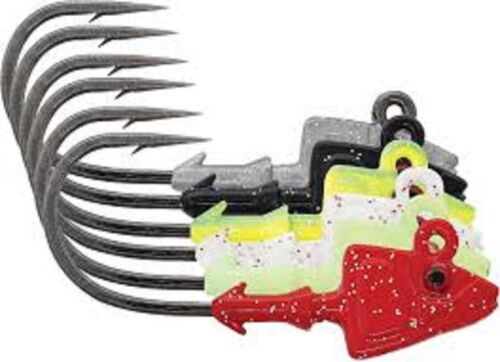 3 Pack Mustad SD824-14BL Elite Shad Darter Jig Heads 1//4 oz 3//0 Hook Black