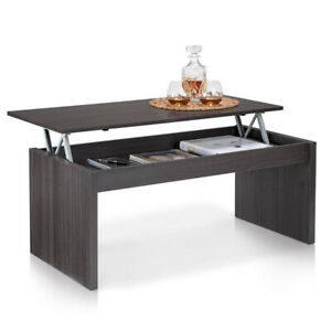 Tavolino Salotto Apribile.Dettagli Su Tavolino Soggiorno Con Rialzo Contenitore Tavolo Salotto Moderno Apribile Cenere