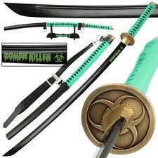 Zombie Killer 1045 High Carbon Steel Full Tang Japanese Katana Sword FREE Bag