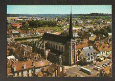 NEMOURS (77) AUTOBUS à l'EGLSE ST-JEAN BAPTISTE du XVI° Siécle , vue aérienne