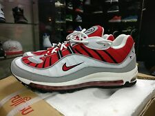 Nike Air Max 98 Uni Rojo Blanco 2013 Raro 95 90 97 93 1 Tn DS Qs OG Infrarrojo UK11