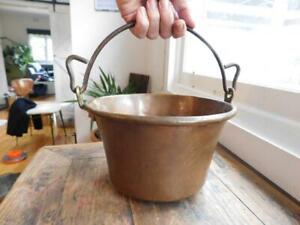 Lovely-Antique-Hand-hammered-Copper-Saucepan-Antique-Pot-1900s