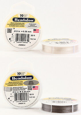 Beadalon® Stainless Steel Bead Stringing Wire 19 Strands Plated Colors