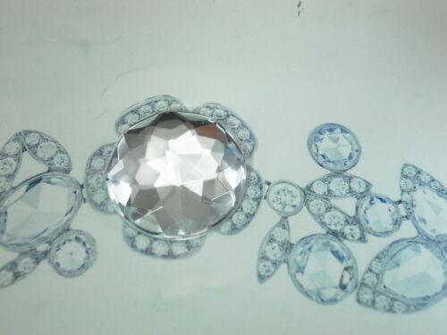 5 piezas parte posterior plana de acrílico redondo en forma de piedra de color claro 25mm sin agujero