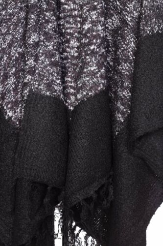 Nouveau Femmes Luxe châle écharpe en Tricot Poncho Capes Wraps écharpes Étole