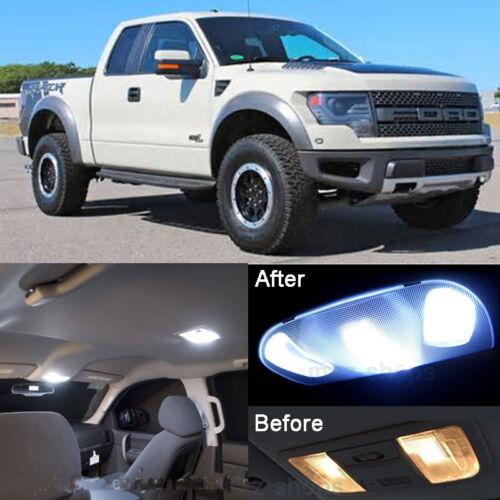 Xenon White LED SMD Interior kit License Light LED For Ford Raptor 2010-2014