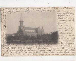 Ixelles-Eglise-Sainte-Croix-Belgium-1902-Postcard-356b