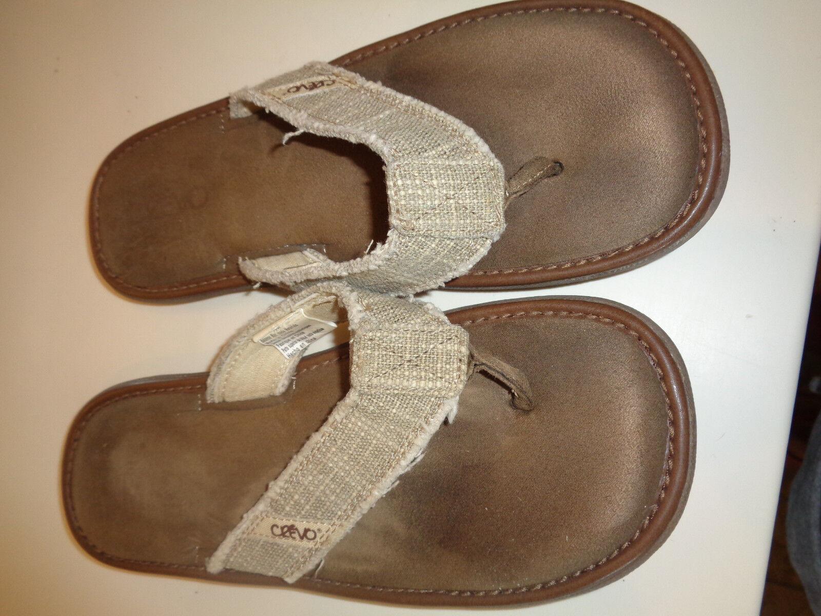 Mens  Crevo Monterey Flip Flops Sandals Chocolate Brown  Mens SZ  6 GUC ab14e1