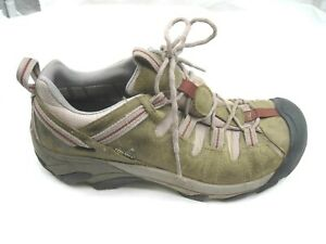 Keen-40-9-5M-green-pink-suede-hiking-trail-womens-ladies-trail-shoes-0708