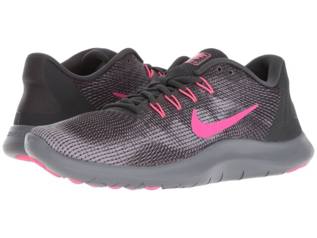 low priced 5cd0b 15980 Nike Women s Flex 2018 RN Black Gray Pink AA7408006 Running Shoes