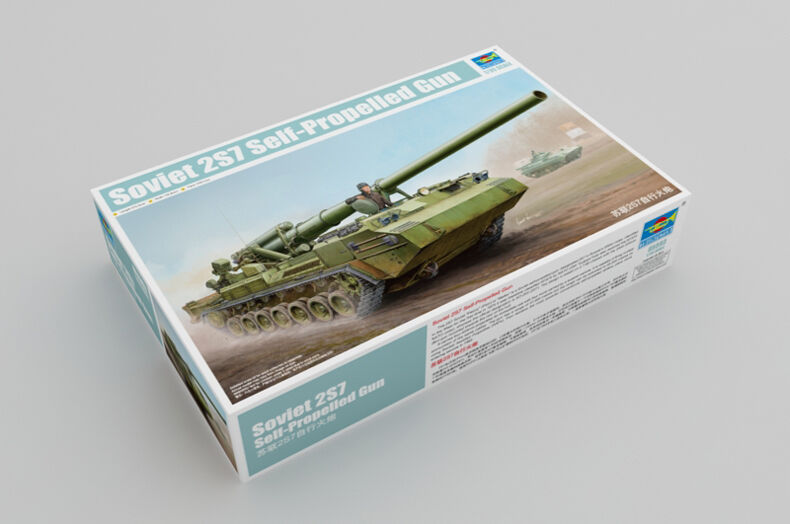 Trumpeter 05593 1 35 Scale Suviet 2S7 Self-propellered Gun Tank Static Model Kit