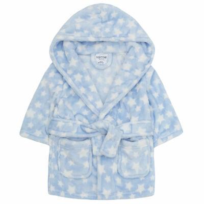 Blue Car Flannel Fleece Hooded Bathrobe BABY TOWN Newborn Baby Boys Dressing Gown