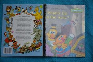 Golden-Book-SESAME-ST-What-039-s-Up-in-the-Attic-108-64-BLUE-BACKCover-1994