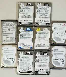 "Lot of 10 Working Mixed brand 80GB SATA 2.5/"" Laptop Hard Drives"