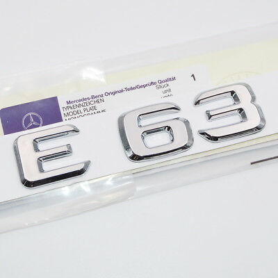 Chrome ABS Nameplate E 250 Emblem Trunk Logo Badge Nameplate Decoration AMG