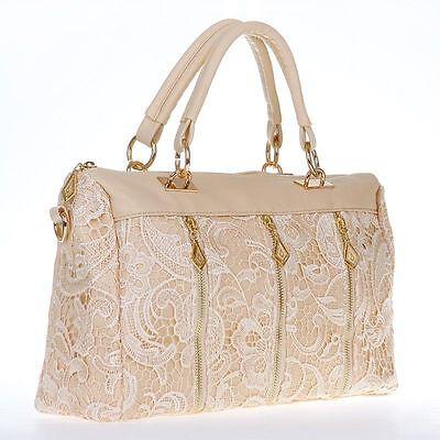 Fashion Korean Women PU Leather Messenger Bag Tote Shoulder Bag Lace Handbag NEW