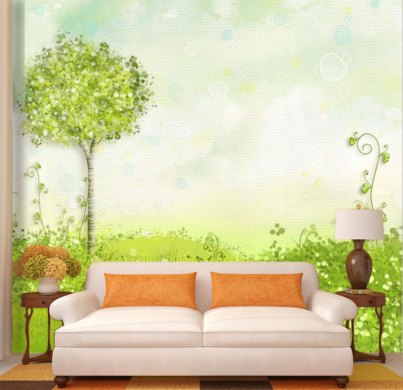 3D Cute little tree 6776 Wall Paper Print Wall Decal Deco Indoor Wall Murals