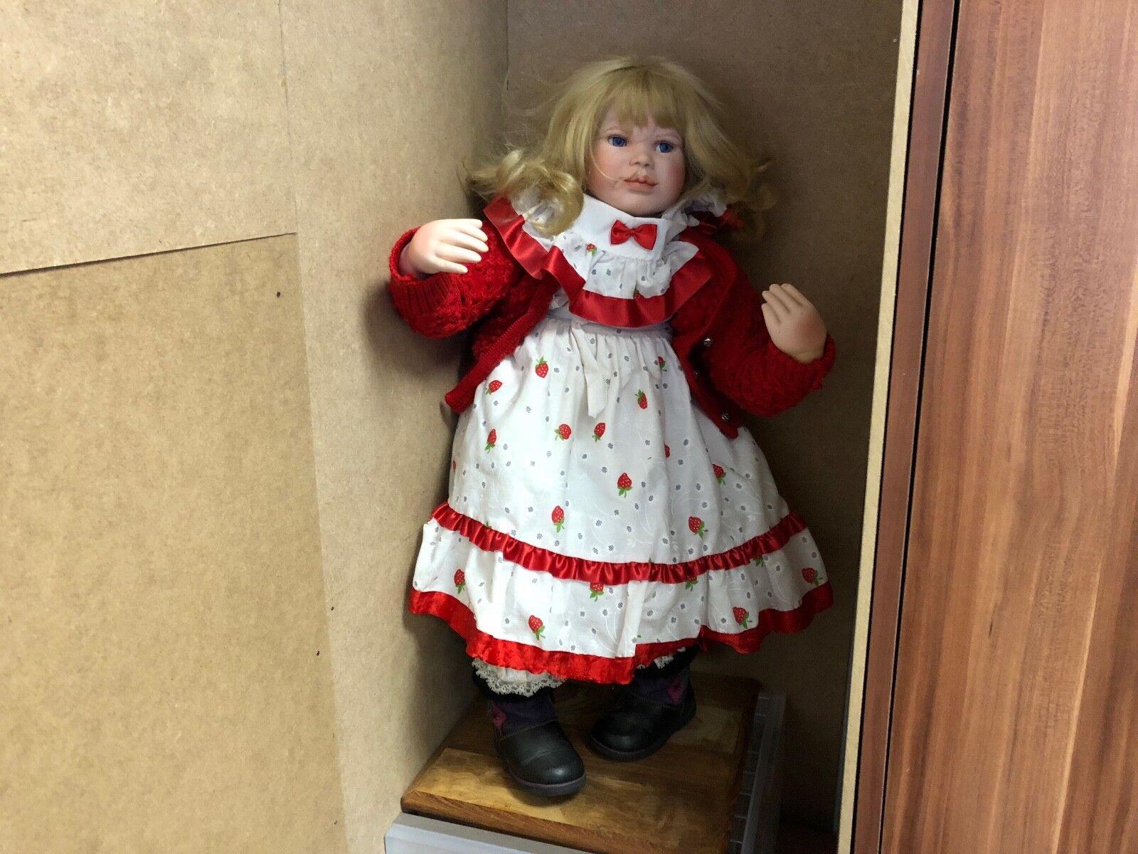 Il Kase Lepp bambola di porcellana 68 CM. OTTIMO stato
