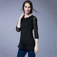 New Women Ladies Casual Top Blouse Dress 3/4 Sleeve AU Size 18 20 22 24 26 #4004