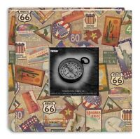 Pioneer Photo Albums Da-200map/ts 200-pocket Photo Album With Printed Travel Des on sale