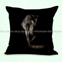Us Seller-pillow Cases Animal Horse Cushion Cover Equestrian Equine