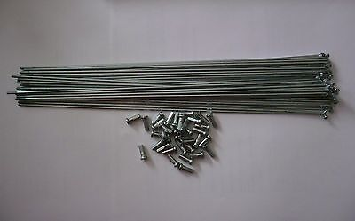 2.0mm 14g x 255 mm steel chrome spokes with Nipples 3 choices