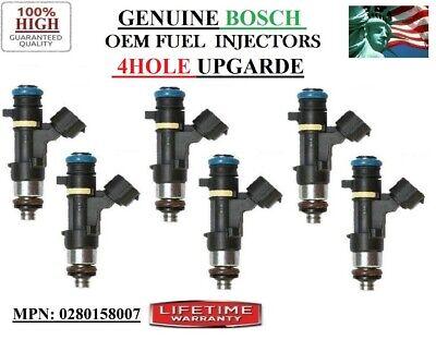 LifetimeWarranty SIX High Quality Fuel Injectors for Nissan  3.0L 3.3L V6 JS23-4