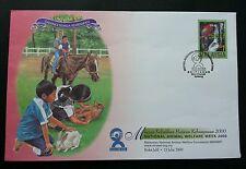 Malaysia National Animal Welfare Week 2000 Horse Cat Rabbit Parrot Birds Pet FDC