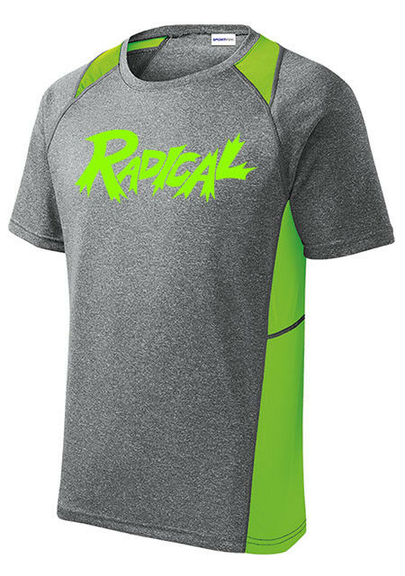 Radical Men's Fix Bowling Performance Shirt Dri-Fit Heather Lime Green