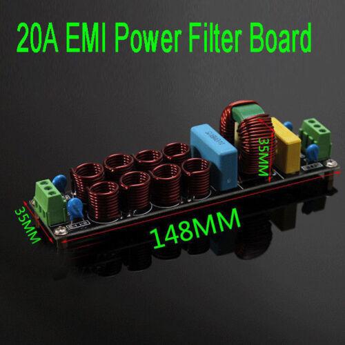 S180 4400W Filtro Purificador De Alimentación EMI 20A Board supresor de ruido AC 110V 220V
