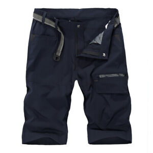 Quick-Dry-Mens-Cargo-Shorts-Hiking-Capri-Pants-Cycling-Fishing-Shorts-Work-Pants