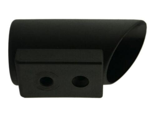 Winkelgleiter Ø 45mm schwarz Bodengleiter Kappe Fußkappen Tischkappen Rohrkappe