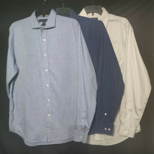 Men's Long Sleeve Dress Shirts Medium - Tommy Hilf