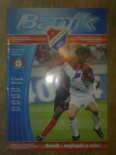 Programme BANIK OSTRAVA BAYER LEVERKUSEN Germany Champions League 200405