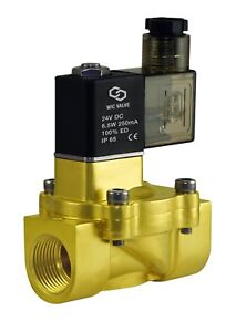 Low-Power-Consumption-Brass-Electric-Air-Water-Solenoid-Valve-3-4-034-Inch-24V-DC