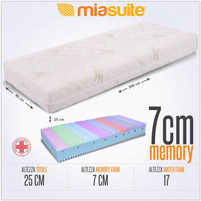 Materasso Singolo Memory Foam Prezzi.Miasuite Premium Plus Memory Foam Materasso Singolo Bianco 90 X 200 X 25cm